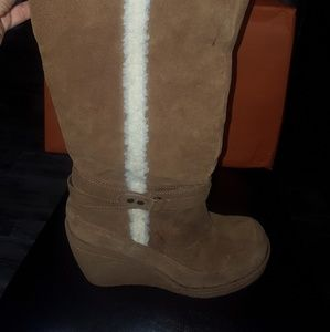 Rocket Dog tall wedge boots